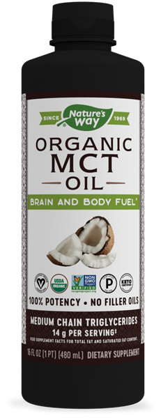 10895 - Organic MCT Oil - 100 Pure MCTs from Coconut