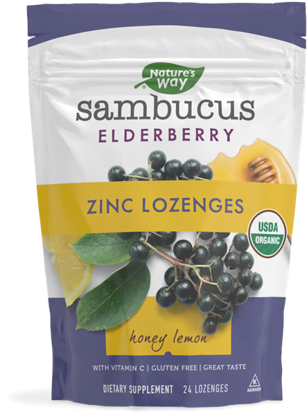 12089 - Sambucus Elderberry Zinc Lozenges Honey Lemon
