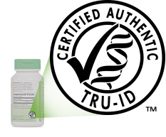 Nature's Way TRU-ID Certification on bottle