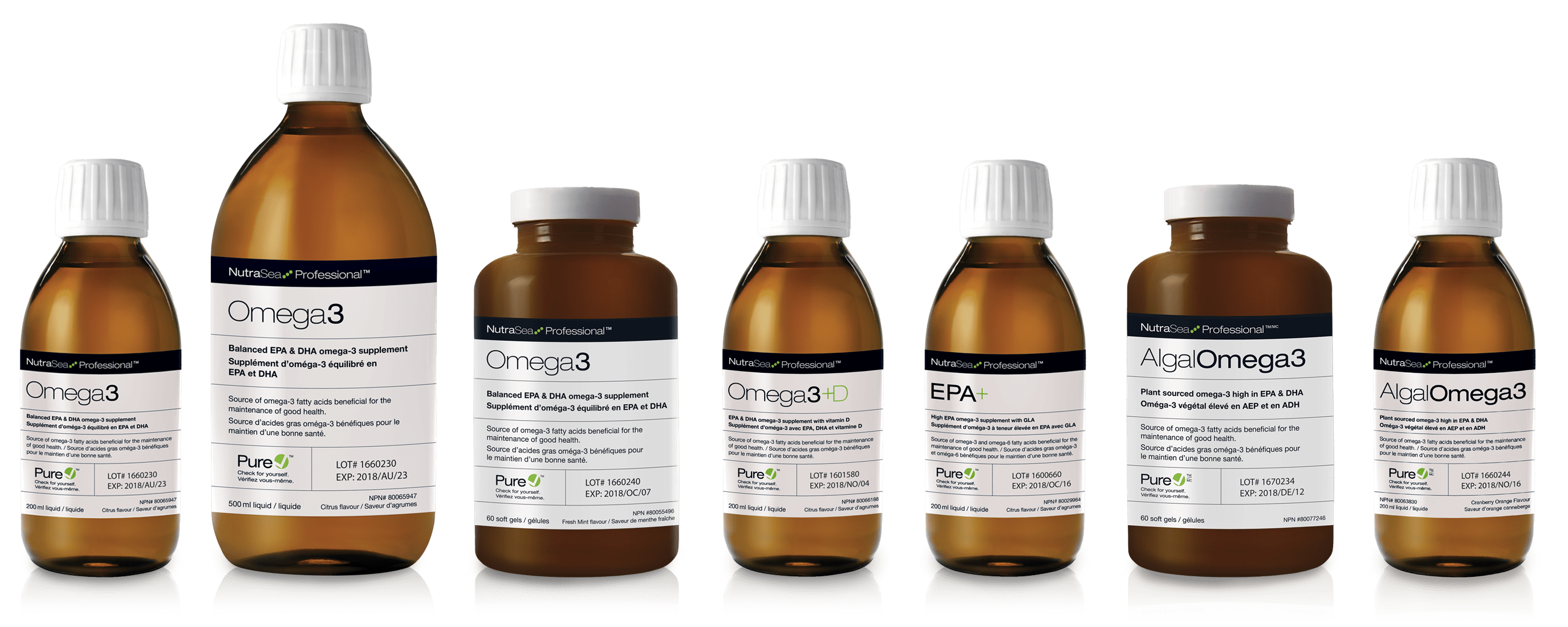 NutraSea Product Bottles