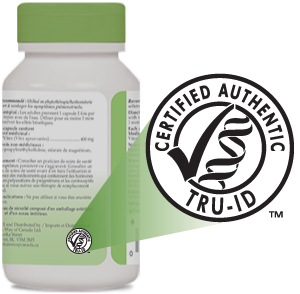 Image of a Nature's Way bottle with TRU-ID certification