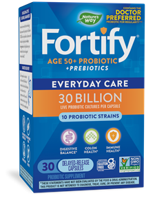 Fortify™ 30 Billion Daily Probiotic Adults 50+ 30 capsules package