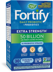 Fortify™ 50 Billion Daily Probiotic 30 capsules package