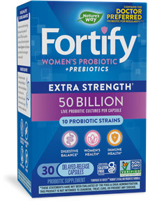 Fortify™ Women's 50 Billion Daily Probiotic 30 capsules package