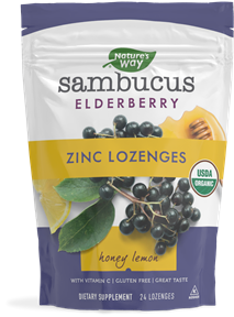 12089 - Sambucus Elderberry Honey Lemon Zinc Lozenges