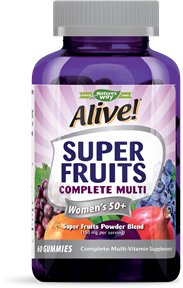 12509 - Alive Super Fruits Womens 50 Multi Gummies