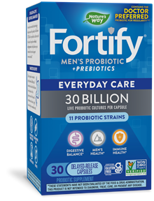 Fortify Men's 30 Billion Daily Probiotic 30 capsules package