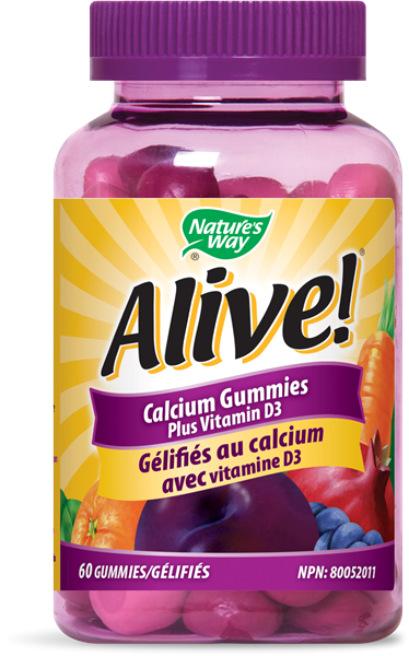 Alive!<sup>&#174;</sup> Calcium Gummies Plus Vitamin D3