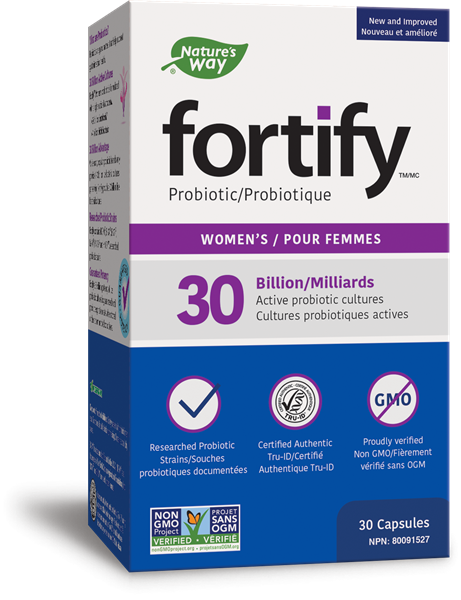 Prima<sup>®</sup> Fortify<sup>™</sup> Women's 30 Billion CFU Probiotic, 30 Capsules