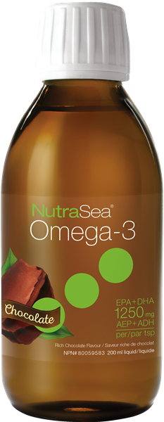 NutraSea® Omega-3, Chocolate, 200 ml
