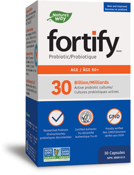 Prima® Fortify<sup>™</sup> 30 Billion CFU Age 50+ Probiotic, 30 Capsules