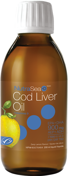 NutraSea +D™ Cod Liver Oil (Lemon)