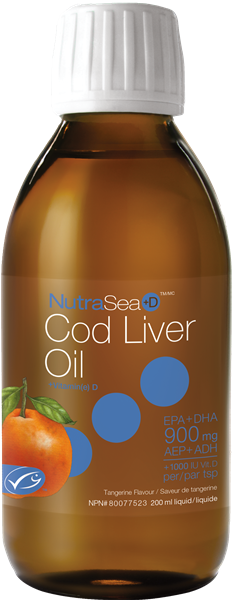 NutraSea +D<sup>™</sup> Cod Liver Oil (Tangerine)