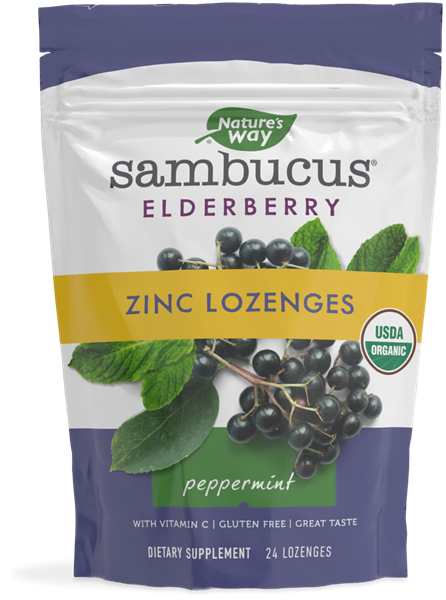 12088 - Sambucus Elderberry Zinc Lozenges Peppermint