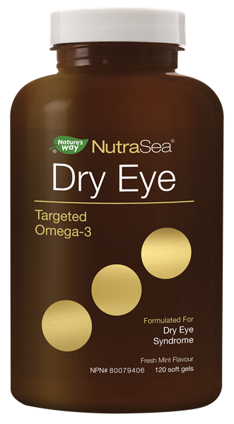 NutraSea Dry Eye Targeted Omega-3, Fresh Mint, 120 count