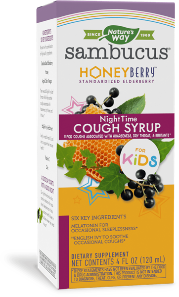 13316 - Sambucus HoneyBerry NightTime Cough Syrup for Kids