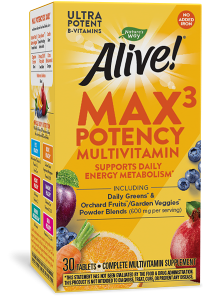 14929 - Alive-Max3-Daily-Multi-No-Iron-180-Tabs