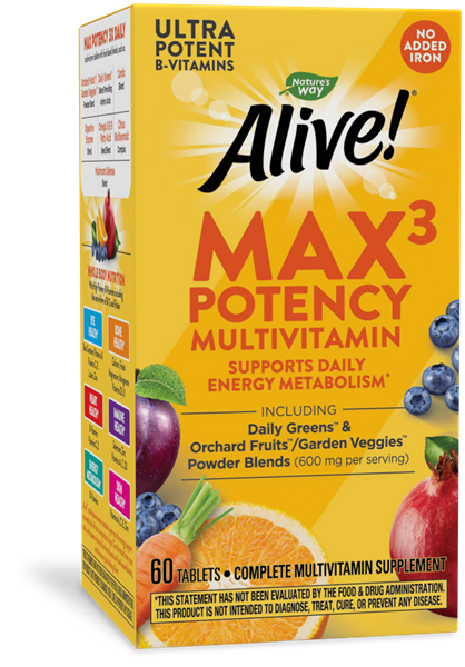 14930 - Alive Max3 Daily Multivitamin Without Iron