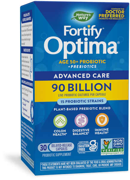 15785 - Fortify Optima Age 50 Advanced Care 90 Billion Probiotic Prebiotics