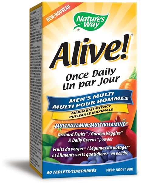 Alive!® Men's Once Daily, 60 Tablets