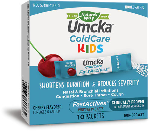 60166 - Umcka ColdCare Kids FastActives Cherry