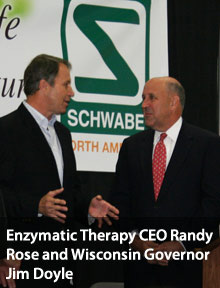 Enzymatic Therapy CEO Randy Rose and Governor Jim Doyle