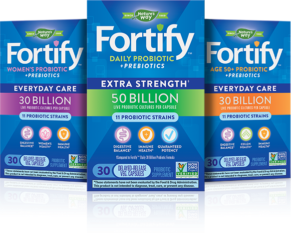 Three Fortify Probiotics products