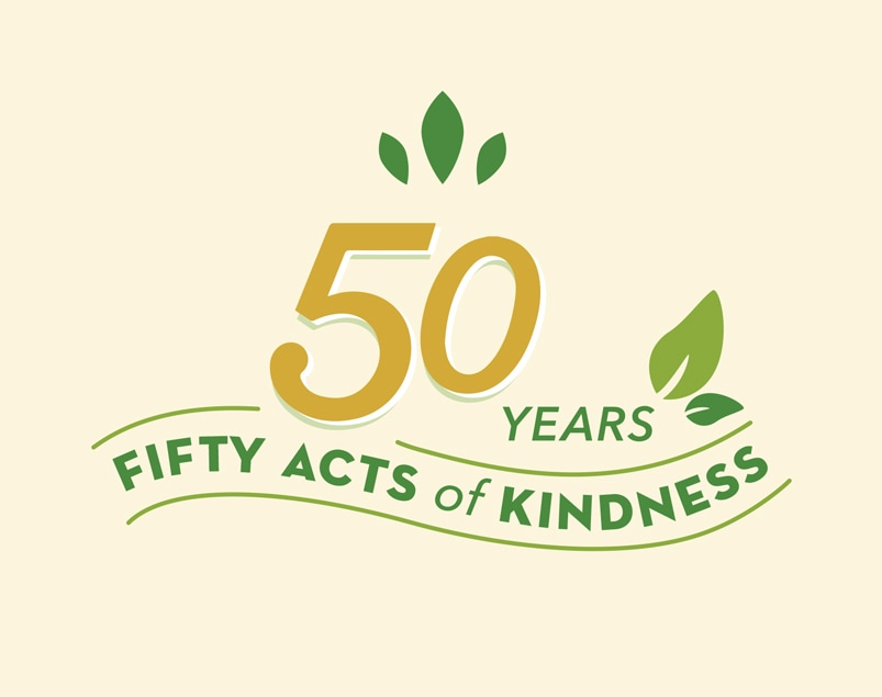 Fifty years, fifty acts of kindness